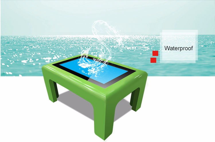55 inch interactive touch table , touch screen water proof coffee table