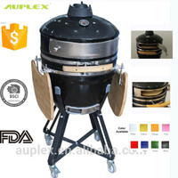Cast Iron Pizza Maker Smokeless Pizza Oven with Ceramic Pizza Plate