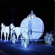 Outdoor christmas saleable items decoration horse led lighted carriage decoration