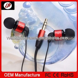 High quality slim fashion earphone for iphone 5