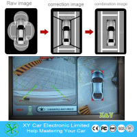 Hot AVM panorama camera 360 degree bird view system around view car security camera parking system XY-360
