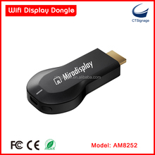 Strong function miradisplay AM8252 wifi display miracast dongle smart tv stick support IOS / Mac / window / android system