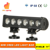 DDL Guangzhou China 10-30V DC Truck LED Light Bar 60W IP68 Automobile X Vision LED Bar Ge LED Light Bar