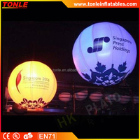 outdoor large inflatable LED light balloon for wedding or decoration sale