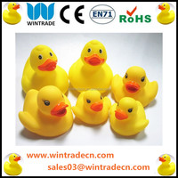 Yellow Duck, vivid baby bath toys