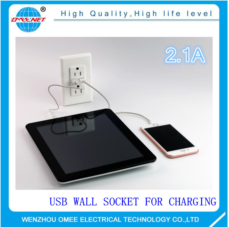 Standard Decorative Duplex USB receptacle 15A 125V receptacle outlet usb