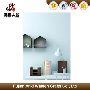 Modern Design Metal Mini House Holder, Iron Wall Shelf
