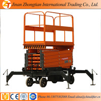 Mobile Manual Hydraulic Scissor Lift Table