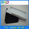 Pure color smooth oil coated protective back hard case for iphone 4S