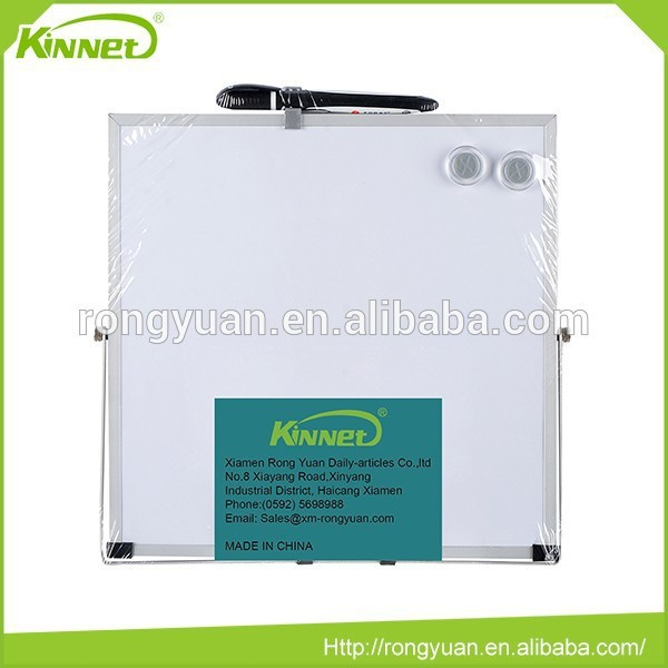 Magnetic square with pen portable metal sheet whiteboard adjustable height