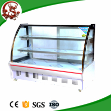 High quality curved glass display freezer for vegetable with cheap price