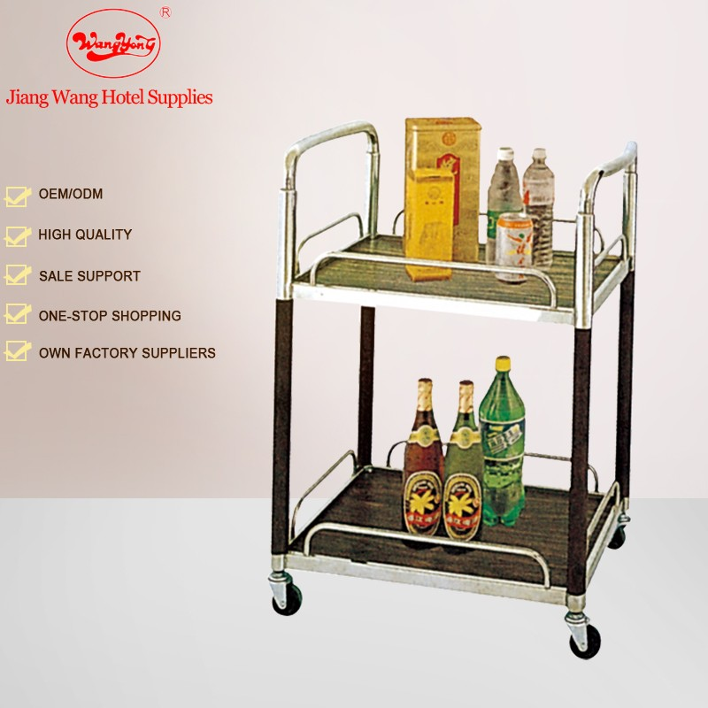 Commercial restaurant Hotel Stainless steel Tea service liquor trolley