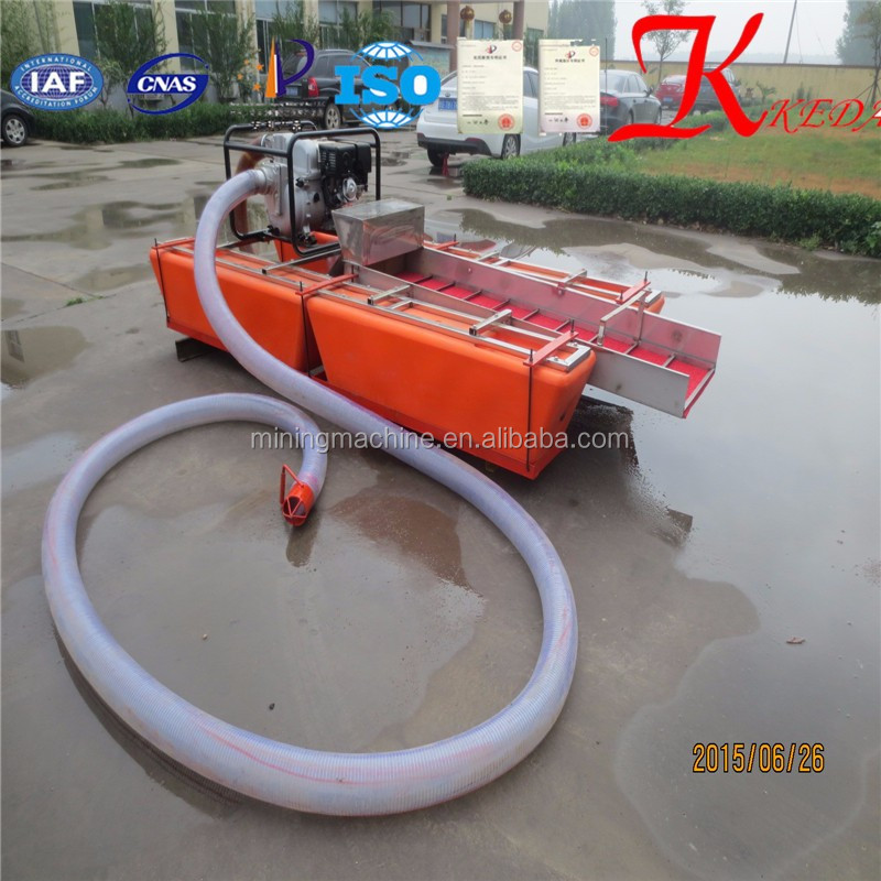 Portable Suction Dredge : Gold mining portable dredge equipment for wet washing