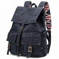Hot sale Durable Canvas Backpack Satchel Rucksack