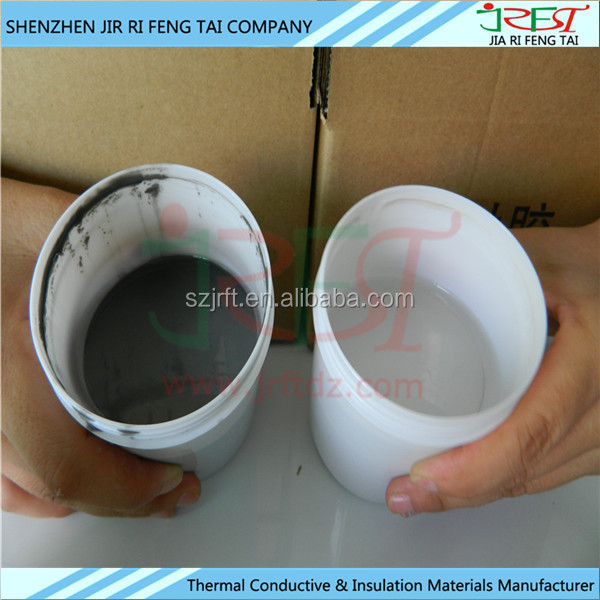 10:1 Waterproof epoxy UV resistant Thermal Insulating Two Part Silicone Adhesives for LED lighting