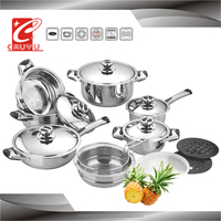 16 pcs Induction stainless steel prestige cookware set Capsule