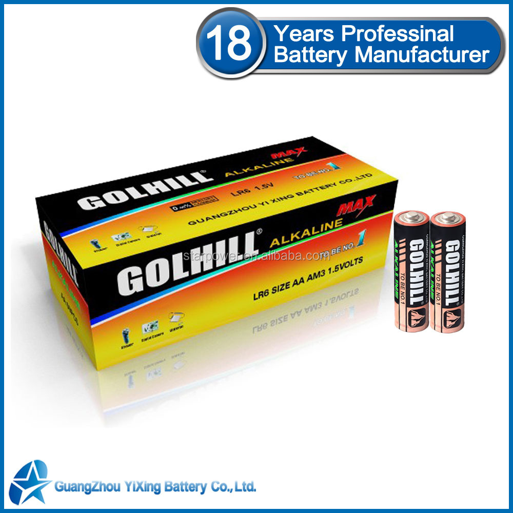 Size AA LR6 super capacitor alkaline battery