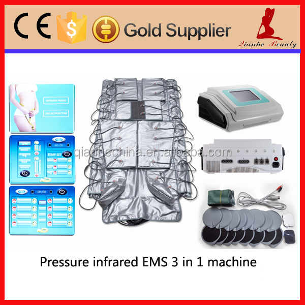 EMS fitness lymphatic drainage massage pressotherapy 3 in 1 slimming beauty instrument