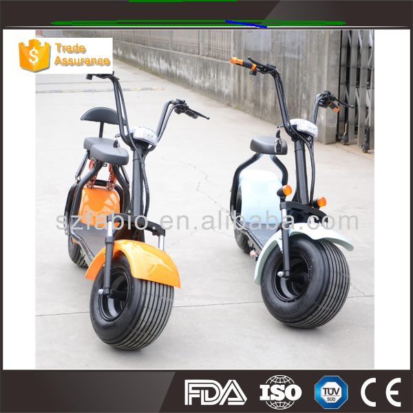 ce/fcc/rohs certification 1000w eec electric scooter fat tires electric scooter FABIO harley citycoco scooter