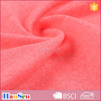 Cationic dye polyester spandex melange sports wear fabric