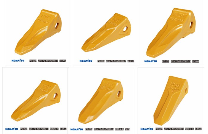 Strong wear proof mini excavator bucket teeth for pc200 19570C