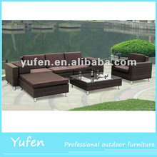 all weather outdoor rattan curved sofas