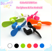 2017 Hot New 2 in 1 Portable Flexible Mobile Phone USB Mini cooling Fan for android for iphone