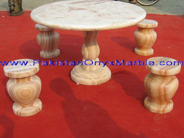 The marble bench for garden decoration