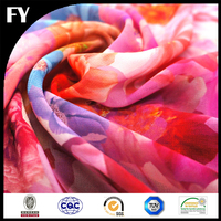 Digital Print Polyester Chiffon in Floral Designs