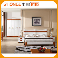 Factory direct wholesale solid wooden indian wood double bed designs