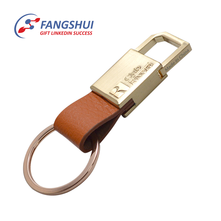 Custom handmade luxury pu leather keychain with logo wholesale leather key chain clip