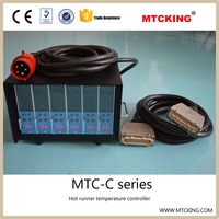 Color intelligent J or K type thermocouple hot runner temperature controller for hot runner mould