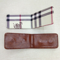 pu leather men's wallet magnet money clip