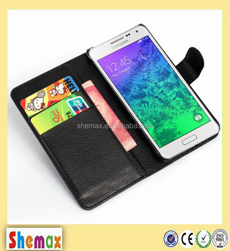 Wholesale alibaba leather filp case for Samsung Galaxy Alpha G850F,For Samsung Galaxy Alpha G850F