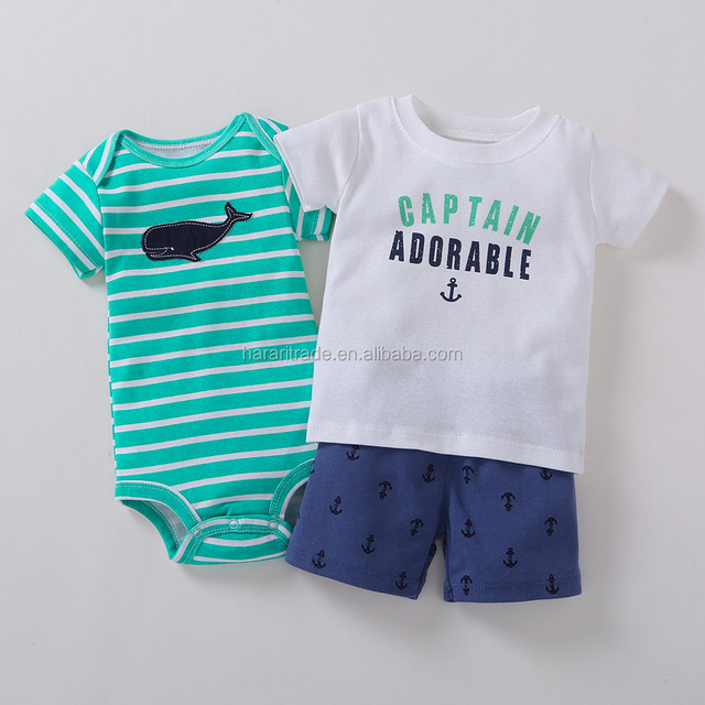 T-shirt shorts kids models baby suit boys clothes