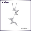 Fashion Personality Star Design 925 Sterling Silver Necklace