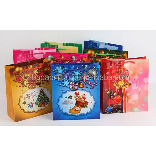 China Manufacturer Customized Christams Paper Bags For Gift Wholesale