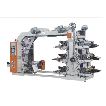 SLT-RB Six Color Doctor Blade Flexographic Printing Machine