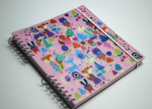 Custom spring ring binder plastic notebook,address book