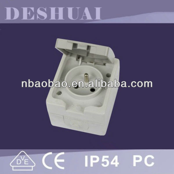 IP54 waterpoof French standard socket ,Electrical socket with NF certificate