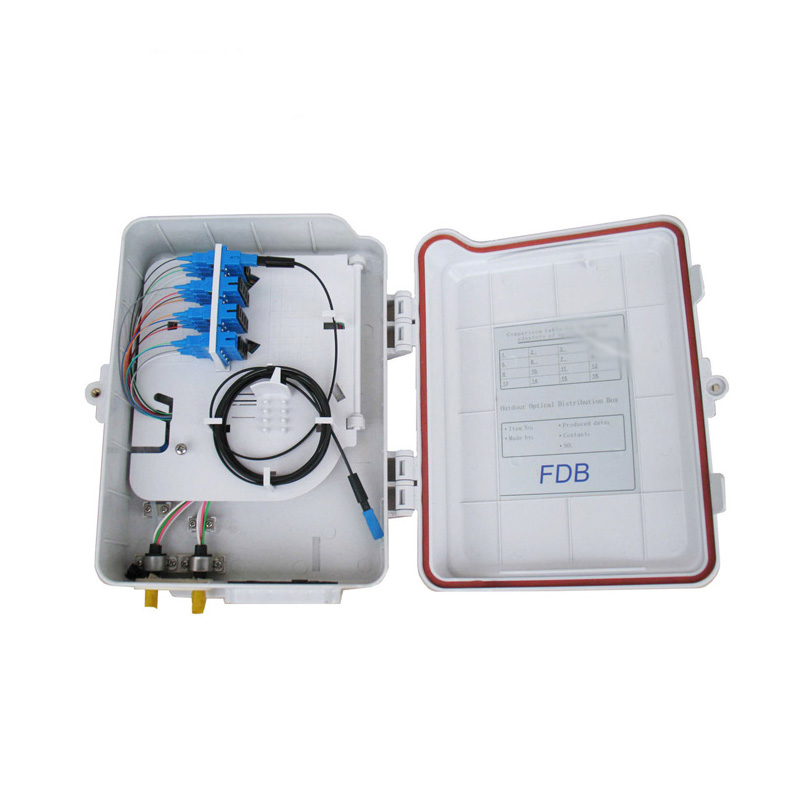 High performance 8 cores FTTH fibre optic termination box