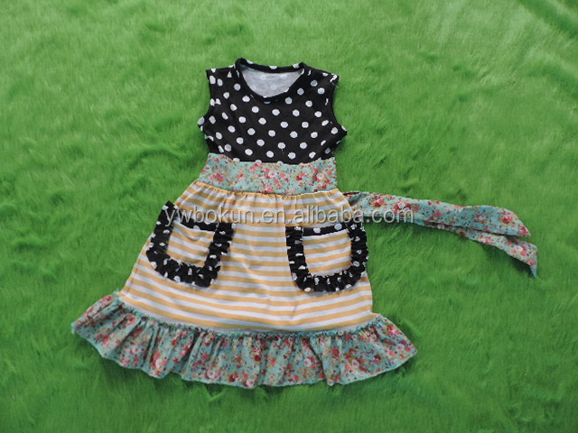 Persnickety Girls Boutique Dress Wholesale Sleeveless Dress Remake Baby Clothing Bulk Kids Clothes