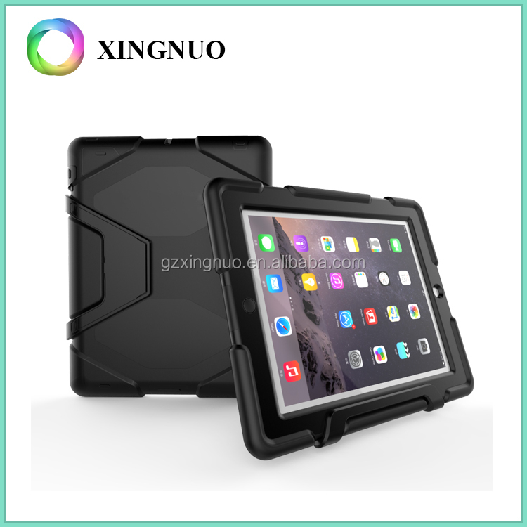 China Supplier PC TPU Material Heavy Duty Plastic Case for iPad 2 / 3 / 4
