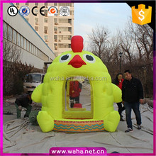 2017 Chinese rooster year promotion chicken mascot inflatable money booth