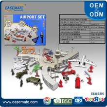 Good sales alloy die cast airport set with plane model toys