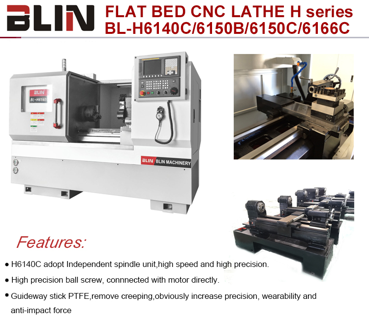 Hotel sale Chinese High Precision CNC Flat Bed Lathe (BL-H6150B)