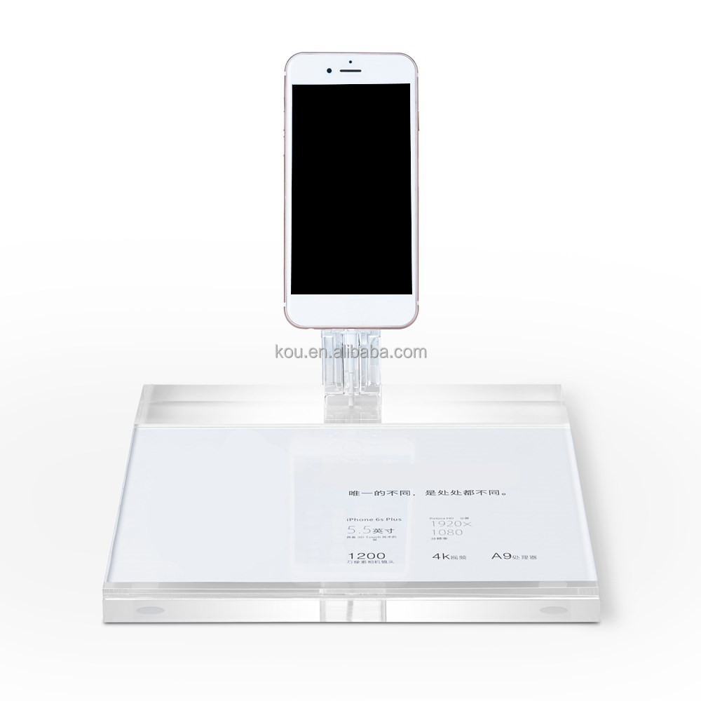 Shenzhen factory retail Best Quality Acrylic Mobile Phone accessory Display Stand for iphone