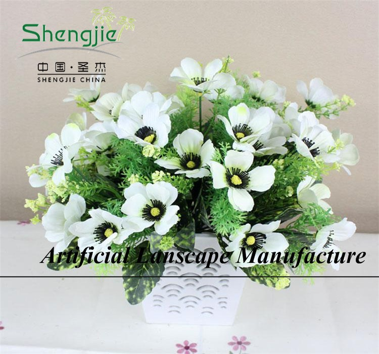 SJYBH32 ARTIFICIAL PLASTIC FABRIC/POLYESTER/NYLON WILD FLOWERS FOR EXTERIOR/INTERIOR DECORATION