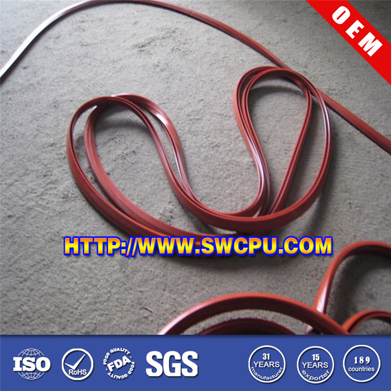 Custom size rubber protected edging seal strip for sheet metal