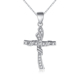 New Arrival Wholesales Customized Silver Diamond Cross Pendants